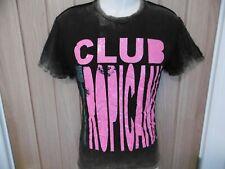 Nuovo Amplified Wham Club Tropicana Uomo Affliggere Strass T-Shirt S 107cm