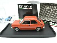 Model Car Scale 1/43 Fiat 127 Brumm Red diecast vehicles road vintage