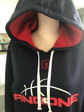 Basketball Hoodie ,And1 , Blue /  Red Men Size Small ,Polyester Hoodie Sz.S