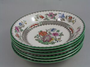 "SET OF SIX COPELAND SPODE CHINESE ROSE 6 1/4"" SWEET/CEREAL BOWLS."