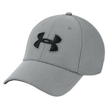 Under Armour UA Adults Blitzing 3.0 Mens Grey Sports Training Stretch Fit Cap