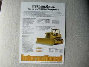 IH International Harvester TD-20E tractor print AD 2 pages