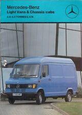 MERCEDES-BENZ 210 207 307 407 310 410 VAN 1987-88 marché britannique la brochure commerciale