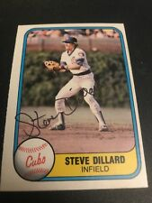Steve Dillard Chicago Cubs Autographed Card Red Sox Tigers