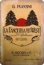Giacomo Puccini - La Fanciulla del West - G. Ricordi & C. - 1910