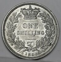 Victoria. Sterling Silver Shilling 1856, ESC (Bull) 3007 S; Scarce. Lustrous EF