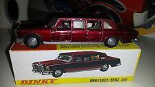 Dinky Toys Meccano LTD No.128 Mercedes Benz 600 redmetallic 60er Jahre mit R-Box