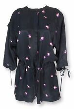Women's 3/4 Sleeve Crew Neck Floral Jumpsuits & Playsuits