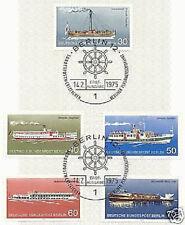 Berlin 1975: Berliner Schiffe Nr. 483 - 487 mit Ersttags-Sonderstempeln! 1A!