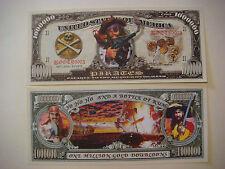 PIRATES Captain Kidd $1,000,000 One Million Dollar Bill ~ Yo Ho Ho & Rum Bottle