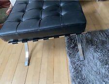 Barcelona Style Black Footstool
