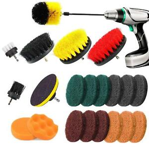 Set Of 22 Drill Cleaning Brush Power Drill Attachment Grout Tile Cleaner Scrub