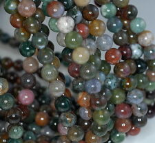 "10MM SANCTUARY INDIAN AGATE GEMSTONE  ROUND LOOSE BEADS 15""AAA"