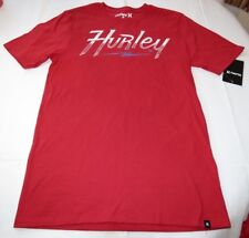 Hurley S Sleepers Core Tee MTS0024990 6DL Red Mens surf skate t shirt NEW NWT