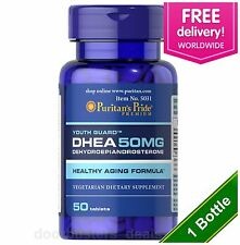 Puritan's Pride DHEA 50mg 50 Tablets  Building Muscle Burning Fat USA MADE
