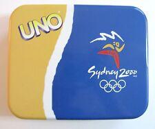 Uno Sydney 2000 Olympics Card Game Set EUC Special Metal Case Australia HTF Rare