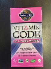 Garden of Life Vitamin Code Women 50 & Wiser 240 Capsules RAW Wholefood Vitamin