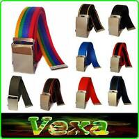 "VEXA Style Webbing Trouser Belt 36-52"" Canvas Tape Buckle strap Manufacturer UK"