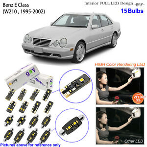 15 Bulb Deluxe LED Interior Dome Light Kit White For W210 1995-2002 Benz E Class