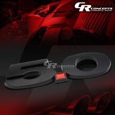 3M TAPE ON AUTO BODY METAL EMBLEM LOGO TRIM BADGE POLISHED BLACK RED 5.0L 5.0 L