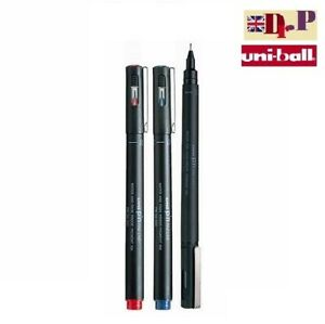 UNI PIN 0.1mm DRAWING PEN FINELINER ULTRA FINE LINE MARKER BLACK&BLUE&RED