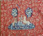 """Vintage Tapisserie D'Halluin French Tapestry """"La Vue"""" Wall Hanging 36""""x30.5"""""""