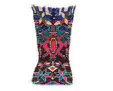 Moroccan Berber vintage runner rug 3x7 Boucherouite, tribal rugs Berber teppich