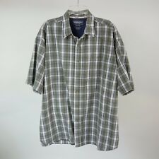 Wrangler Hero 3XL Green Plaid S/S Western Button Front Cowboy Shirt