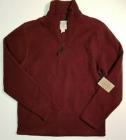 St Johns Bay Men's Quarter Zip Fleece Long Sleeve Sweatshirt Small NWT MSRP $30