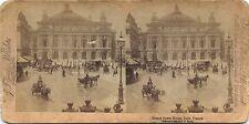 Place de l'Opéra Paris Photo Stéréo Stereoview Vintage