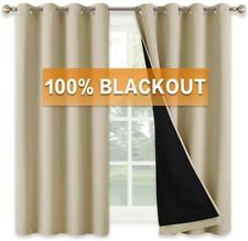 RYB HOME Wall Divider Curtain for Living Room, Noise Reduction Privacy Curtain