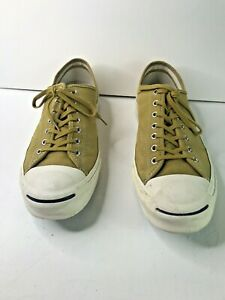 Converse Jack Purcell Suede Tan Sneakers Mens 11.5 Lace Up