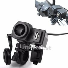 MOTORCYCLE MOBILE PHONE WATERPROOF GPS USB POWER SUPPLY PORT SOCKET CHARGER 12V