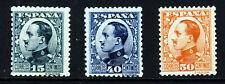 España 1930-31 Rey Alfonso XIII Grupo SG 586, SG 590 (Die I) y SG 592 Como Nuevo
