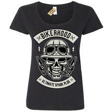 Bikerhood T-Shirt Ultimate spark plug  Womens Ladies Scoop