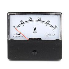 DH-670 Genauigkeit DC 50V Zifferblatt Analog Panel Meter Voltmeter