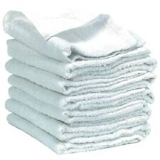 12 PACK OF NEW WHITE 100% COTTON WASHCLOTHS FACIAL SALON BATH LINENS