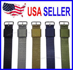 16mm 18mm 20mm 22mm 24mm MOD Mil Series RAF Military Nylon Watch Strap Watchband