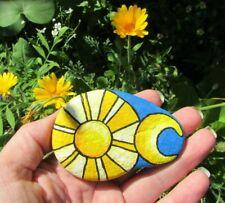 Hand Painted Rock~ Sun/ Moon~ Rock Your Garden~ Gift