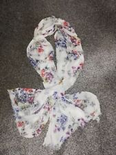 M&S Pretty Ivory Floral Scarf