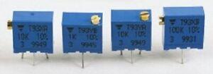 Vishay T93 TOP ADJUST TRIMMER POTENTIOMETERS 9.7x2.2mm 50Pcs 0.5W- 100kΩ Or200kΩ