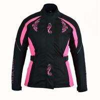 Biker Wears Women Motorcycle Motorbike Scooter Waterproof  Textile Jacket Pink