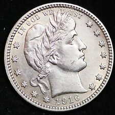 1916-D Barber Quarter CHOICE UNC FREE SHIPPING E262 CNL