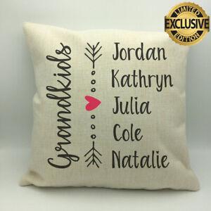 Grandchildren Pillow With Names