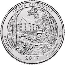 US QUARTER DOLLAR UNC 2017 MISSOURI OZARK RIVERWAYS P or D Mint COIN