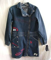BABY PHAT GIRLZ Stretch Blue Denim Jean Dress Girls size Large 12-14 NEW NWT