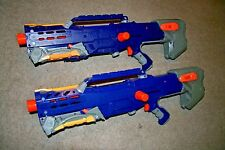 Nerf Longshot CS-6 N-Strike Front Scope RARE dart gun TACTICAL Sniper Rifle Blue