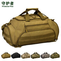 Protector Plus 3-Ways Tactical Military Nylon Men Holdall Weekend Travel Duffel