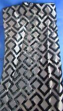ancien coupon tissus  soierie et velours epoque art deco antique fabric noir 14