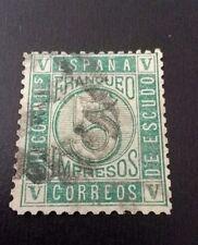SELLO CLÁSICO ESPAÑA USADO 1867 EDIFIL 93 ISABEL II  5 MIL. ESCUDO